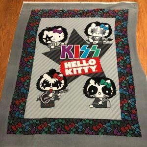 Kiss hello kitty fabric blanket
